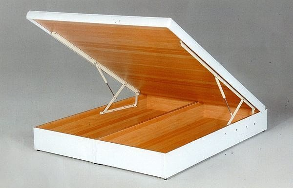 【尚品傢俱】637-13 白色雙人厚框5尺後掀/尾掀床(多安全裝置)~另有3.5尺、6尺