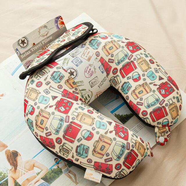 旅人眼罩+頸枕  紓壓/休息 便利實用   3色可選 2
