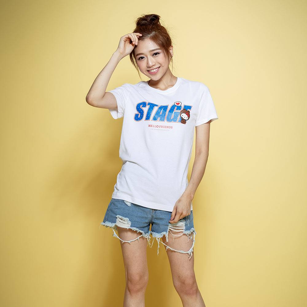 STAGE x HELLO FRIENDS 聯名限定 KITTY ON STAGE TEE 1