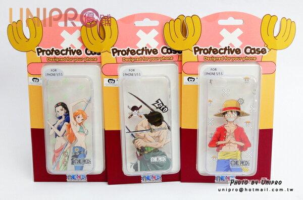 【UNIPRO】iPhone 5/5s 航海王 海賊王 One Piece 手機殼 透明軟殼TPU保護套