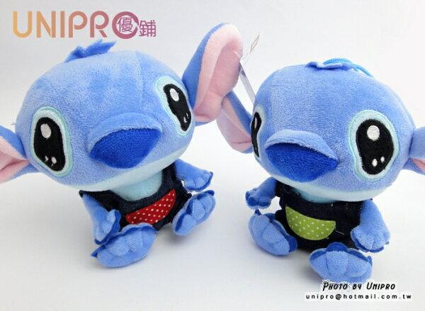 【UNIPRO】迪士尼 史迪奇 Disney Stitch 6吋 吊帶褲系列 絨毛玩偶 布偶 娃娃 禮物