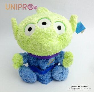 【UNIPRO】迪士尼 玩具總動員 坐姿 三眼怪 絨毛 玩偶 娃娃 Toy Stoys Aliens 手偶娃娃