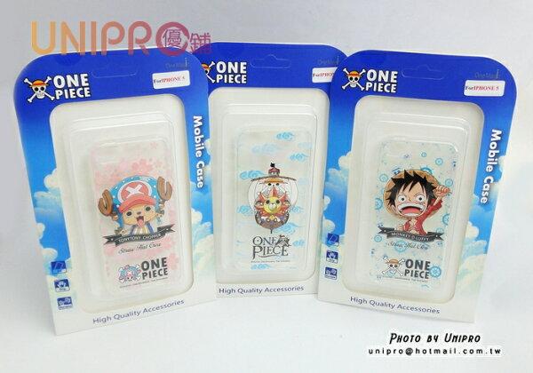 【UNIPRO】iPhone 5/5s 海賊王 魯夫 喬巴 千陽號 One Piece 手機殼 透明軟殼TPU保護套