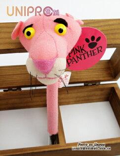 【UNIPRO】頑皮豹 粉紅豹 Pink Panther 絨毛 小 娃娃 玩偶 毛毛 造型 原子筆