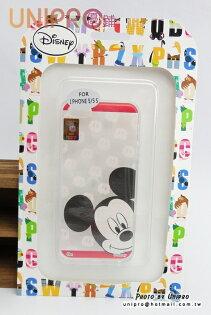 【UNIPRO】iPhone 5 5S 迪士尼卡通 點點 大頭 米奇 透明 TPU 手機殼 保護套