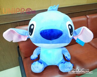 【UNIPRO】迪士尼 史迪奇 Stitch 星際寶貝 超大 巨大 絨毛玩偶 娃娃 禮物 高85cm 坐姿 生日 聖誕