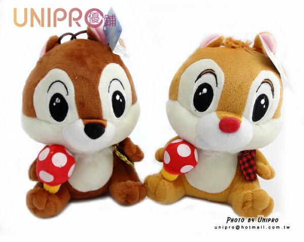 UNIPRO 迪士尼Disney 正版 救難小福星 奇奇 蒂蒂 Chip Dale 花栗鼠 蘑菇 絨毛玩偶 玩具娃娃 小