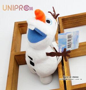 【UNIPRO】迪士尼 冰雪奇緣 FROZEN 雪寶 絨毛玩偶 趴姿 娃娃 飛越 吊飾 11公分 正版授權