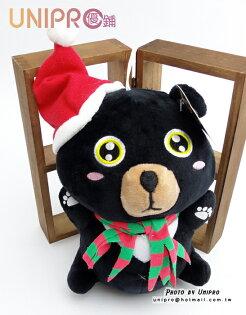 UNIPRO 聖誕吊飾 聖誕 黑熊 6吋娃娃 Christmas 聖誕節 耶誕節 可愛 玩偶 絨毛娃娃