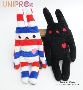 UNIPRO 日系 彩虹兔 筆袋 易拉扣證件包 零錢包 毛巾 布娃娃 兔兔 玩偶 兒童 玩偶 聖誕節 禮物
