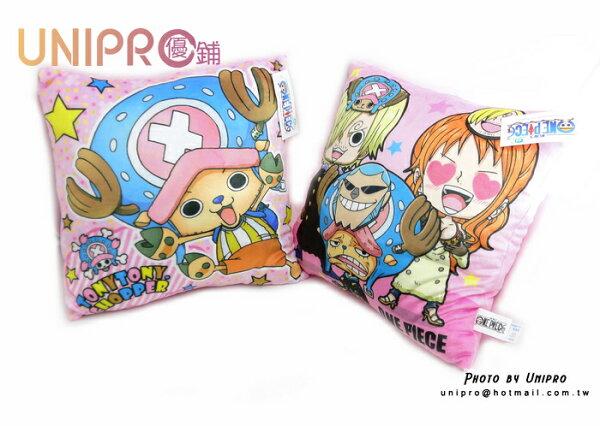 UNIPRO 海賊王 One Piece 喬巴 香吉士 娜美 卡通抱枕 午安枕 方枕 航海王 正版授權