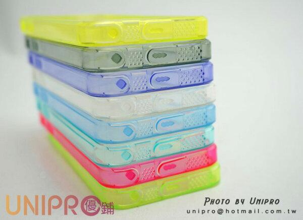 UNIPRO【i511】iPhone 4 4S 5 5S 果凍色 TPU邊框 雙料 透背 手機殼 保護套