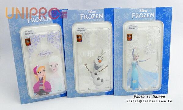 【UNIPRO】三星 NOTE4 N910 冰雪奇緣 FROZEN TPU 透明 手機殼 雪寶 ELSA 安娜  保護套