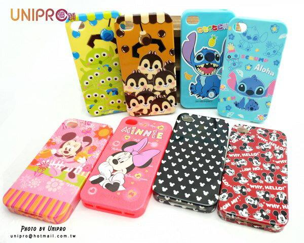 UNIPRO 迪士尼 iPhone 4 4S 三眼怪 奇奇 史迪奇 米奇 米妮 軟殼 手機殼 保護套
