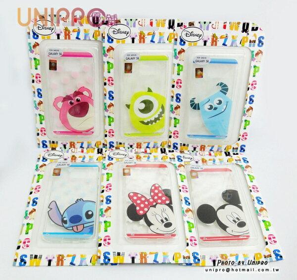 【UNIPRO】三星 S6 G920 迪士尼 透明 軟殼 TPU 手機殼 史迪奇 毛怪 大眼 米奇 米妮 熊抱 保護套