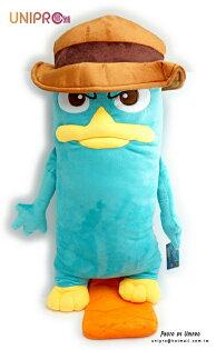 【UNIPRO】迪士尼 泰瑞鴨 特務P 造型長枕 絨毛娃娃 玩偶 飛哥與小佛 鴨嘴獸 特大號 Perry 正版授權