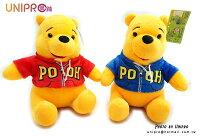 小熊維尼周邊商品推薦【UNIPRO】迪士尼 小熊維尼 Winnie the Pooh 穿外套 夾克 絨毛玩偶 娃娃 20cm高