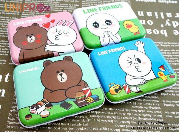 【UNIPRO】LINE 公仔 表情 熊大 兔兔 饅頭人 鐵盒 彩色MEMO紙 LINE FRIENDS 正版授權