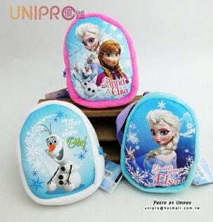 【UNIPRO】冰雪奇緣 FROZEN 背包造型零錢包 扣環小收納袋 相機包 雪寶 OLAF 艾莎 ELSA 安娜