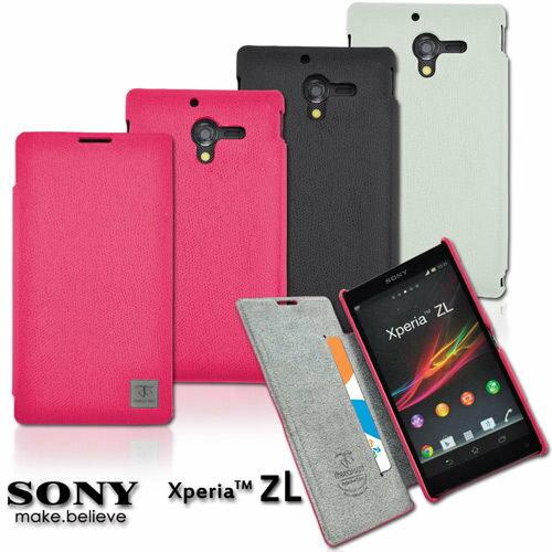 【UNIPRO】Metal-Slim SONY Xperia ZL L35h C6502 韓風時尚系列側翻皮套 保護套 [SY06]