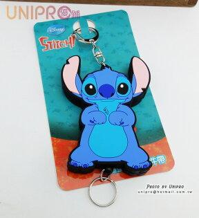 【UNIPRO】迪士尼 史迪奇 STITCH 星際寶貝 造型 易拉扣 證件鎖圈 掛飾 伸縮 鑰匙圈 正版授權