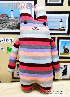 【UNIPRO】彩虹兔 fumo兔 綿綿兔 長型抱枕 絨毛娃娃 60CM 小兔 靠枕 抱枕