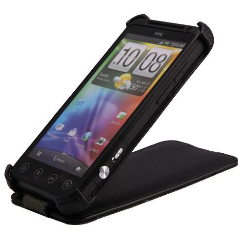 UNIPRO【HC018】Metal-Slim 皮革系列 HTC Shooter/EVO 3D 上下掀式PU皮套 荔枝紋