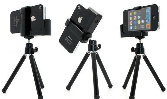 UNIPRO【A018】iPhone 4 4S 5 5S 5C iPod Touch 相機 攝影機 支架 三角架 360度旋轉 腳架
