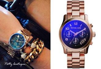 美國Outlet 美國正品代購 Michael Kors MK 不鏽鋼 淺粉 金錶帶 三環計時日曆 手錶 腕錶 MK5940