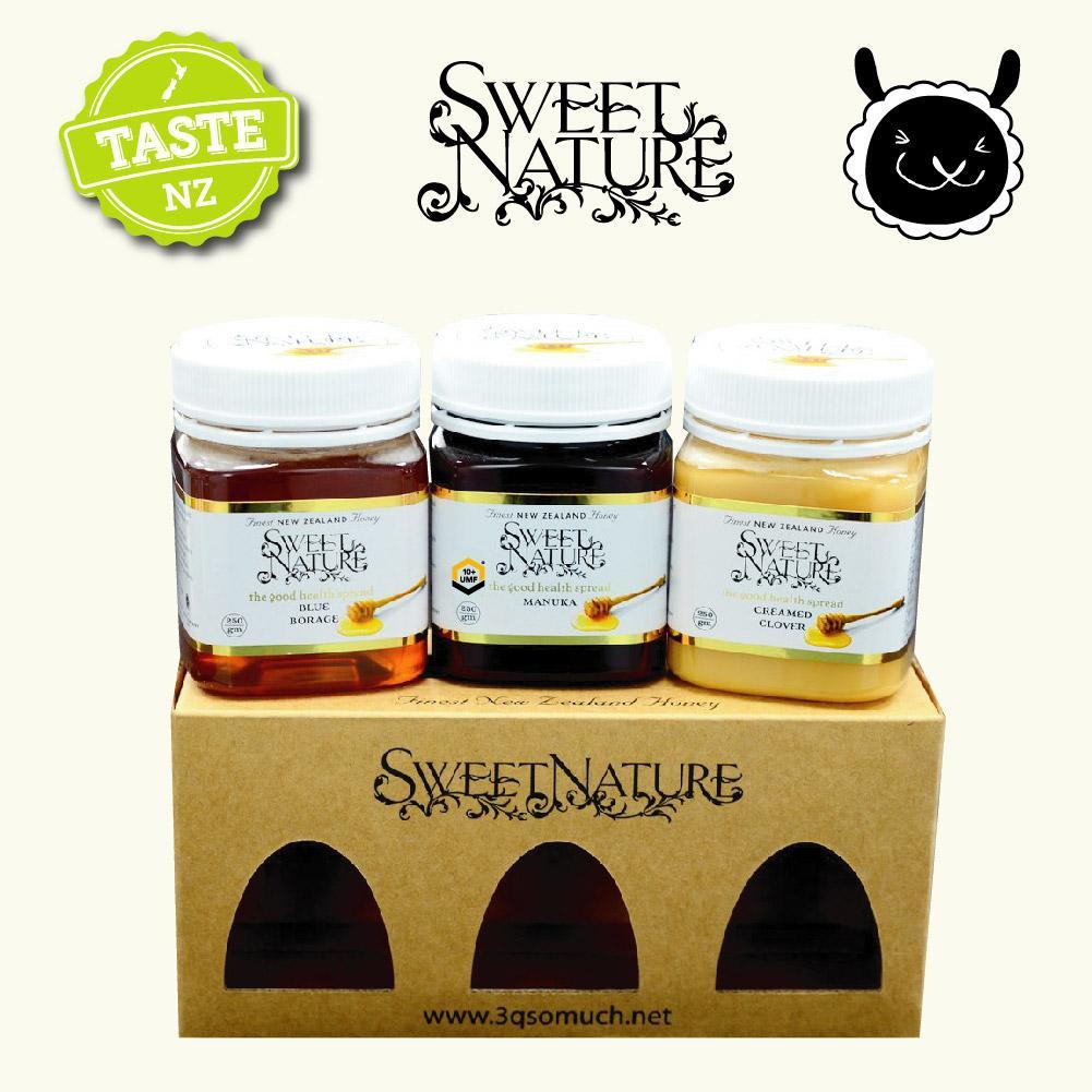 【壽滿趣】Sweet Nature - 紐西蘭進口白金蜂蜜禮盒(麥蘆卡manuka UMF10+、琉璃苣、三葉草) 1