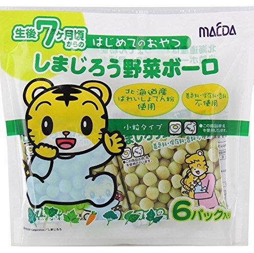 有樂町進口食品 日本 前田 巧虎6P蛋酥-蔬菜 84g 巧虎蛋酥 嬰兒蛋酥 4901147303718
