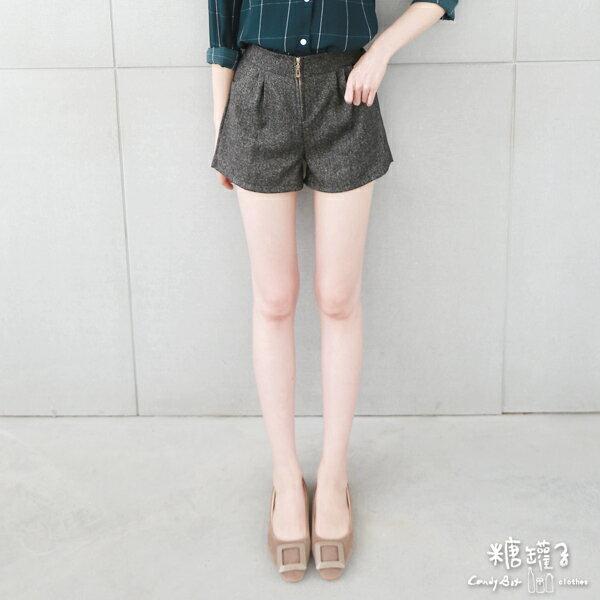 ★原價350五折175★糖罐子口袋拉鍊後縮腰短褲→預購【KK4866】 1