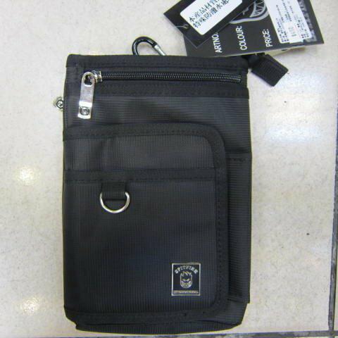 ~雪黛屋~SPITFIRE 外掛式腰包7.5寸防水尼龍布材質隨身物品專用包工作袋可肩背斜側可穿過皮帶多功能#2998 黑