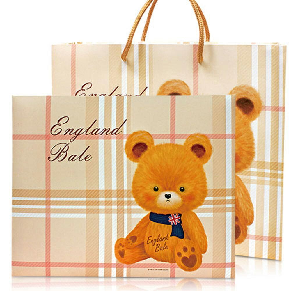 英倫貝爾小熊香氛抗菌 SPA禮盒(1洗髮乳1沐浴乳3抗菌皂) 附贈精美英倫風紙提袋 1