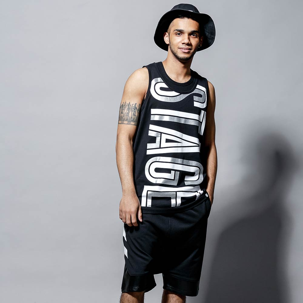 STAGE HOLLOW FONT TANK TOP 黑色/白色 兩色 1