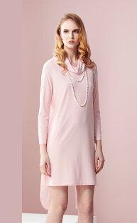 林廷芬服裝設計-Catherine Vari-背部雪紡設計顯高挑修飾身形粉色洋裝