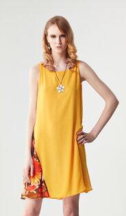 林廷芬服裝設計-Anna- 下擺花色切割拼接無袖洋裝