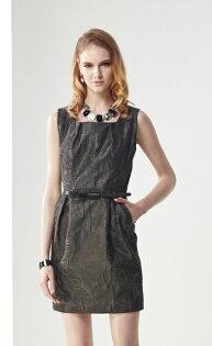 林廷芬服裝設計-Evelyn-無袖花紋典雅洋裝