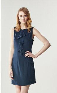林廷芬服裝設計-Layla-不規則荷葉設計洋裝