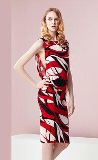 林廷芬服裝設計-NoraR-針織圖驣變化洋裝