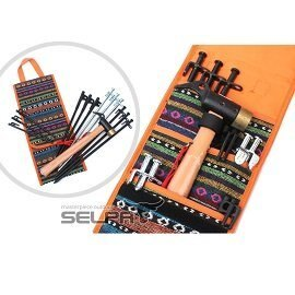 民族風棉麻布工具包 / 營釘包 / 營槌收納包