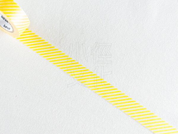 *小徑文化*日本進口 NICO Bande 和紙膠帶 法國傳統色 系列 - 斜條紋_黃 ( BDA 136 )