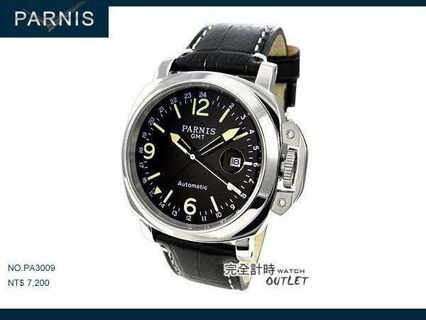 【完全計時】手錶館│PARNIS 瑞典軍錶風格 戰將時刻 自動機械錶 PA3009 經典款 43mm L