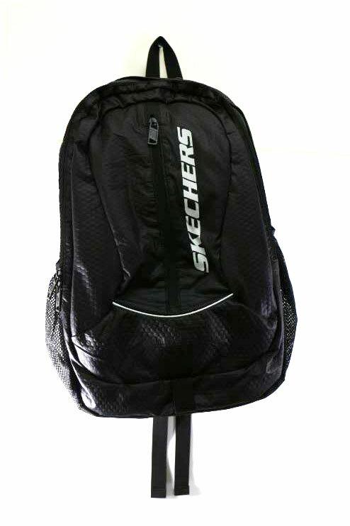 [陽光樂活]SKECHERS Backpack-大容量 網布 實用 後背包 - S03706 黑色