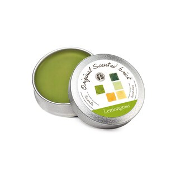 【OP 窩居小徑】Lemongrass 檸檬草園 精油芳塊香磚-12±2g 隨身盒,純手工製作