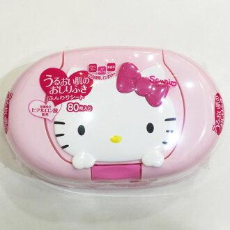 HELLO KITTY 嬰兒濕紙巾盒組 80入 濕紙巾 日本製 正版日本進口 限定販售 *JustGirl *