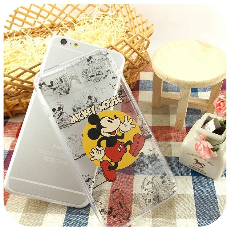 【Disney】iPhone6plus彩繪90週年透明保護軟套-90週年米奇 4