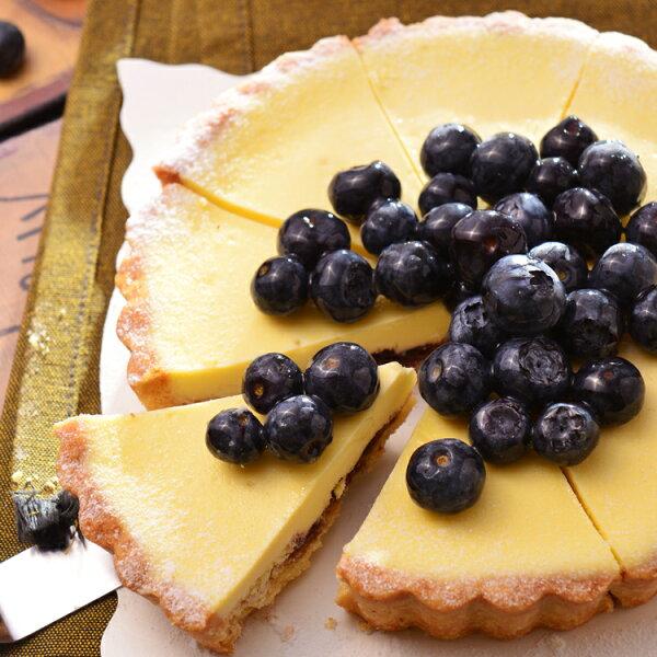 【美地瑞斯】藍莓乳酪派6吋 559【免運】★純濃自製手工藍莓醬→新鮮藍莓熬煮成果醬搭配濃郁乳酪,不加任何添加物,用最簡單的原料完成最自然的美味