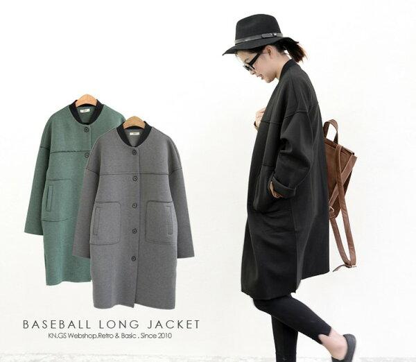 御聖願[紐約行]韓系新款簡約太空棉寬鬆大碼棒球領型通勤可穿外套大衣