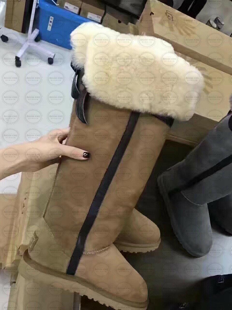 OUTLET正品代購 澳洲 UGG 千頌伊同款過膝羊皮毛雪靴 保暖 真皮羊皮毛 雪靴 短靴 駝色 0